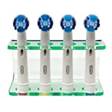 Seemii Zahnbürstenkopfhalter Elektrische Zahnbürste 2 oder 4 Zahnbürstenköpfe Klar Grün Acryl - Natur, Plastik, 4 Kopf Halter