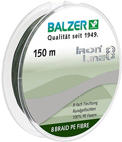 Balzer Iron Line 8-fach geflochtene Angelschnur grün (0,16 mm) (Geflochtene Grün Angelschnur)