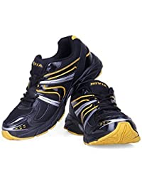 Nivia Men's Arnold Mesh PU Black And Yellow Running Shoes (10UK)