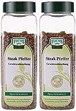 Fuchs Steak Pfeffer Gewürzzubereitung Pfeffergewürz-Mischung geschroteter Steakpfeffer, zum Grillen, ideal für Gewürz Rub und Marinade, Menge: 2 Stück - 2