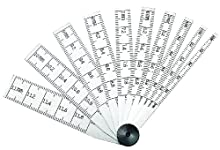 Starrett 269MA Ensemble de 10 règles Plage de mesure 2-12 mm Graduation 0,02 mm Longueur 64 mm