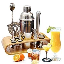 AYAOQIANG Cocktail Shaker Set di 12 Pezzi, Kit Attrezzatura Bar in Acciaio Inox, Shaker 750 ml, Jigger Bar Spoon ect per…