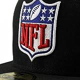 59Fifty Football Cap – NFL Shield Logo (Black) - 2