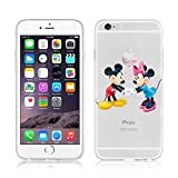 Coque souple en TPU (thermoplastic polyurethane) - Avec motifs de dessins animés Disney - Pour iPhone Apple 6 / 6S / 6 Plus / 6S Plus, plastique, MICKEY & MINNIE, APPLE IPHONE 6 PLUS .S