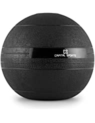 Capital Sports Groundcracker Slamball - Balle lestée en caoutchouc pour exercices fitness, cross-training, musculation (pas de rebond, lest à base de sable et métal)