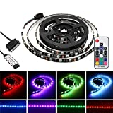 HDHUA Luci Decorative Magnetic Kit Light Strip 1.5M 2M IP20 15 Pin RGB LED SATA + 17 Tasti del Telecomando for PC Caso DC12V (Taglia : 1.5M)