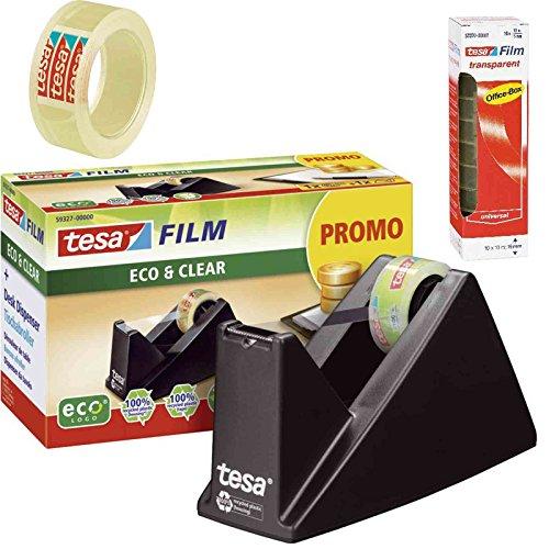 Tesa Easy Cut Economy ecoLogo® ® Dispensador, Incluye 1Rollo Tesafilm–/Oficina de Ahorro de Juego