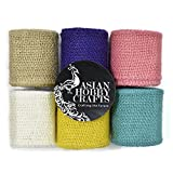 #7: Asian Hobby Crafts Jute Burlap (2 m) - Set of 6 rolls