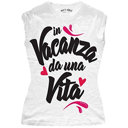my t-shirt Damen T-Shirt in Vacanza Da Una Vita Bianco
