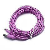Vimoli Cable #V8 USB 2.0 Tipo C Cargador USB C de Nylon Trenzado Carga Rápida y Sincronización Fácil de Usar para Samsung, Xiaomi, Huawei, LG, Sony y más - 2M/78.7'' (Rosa-B)