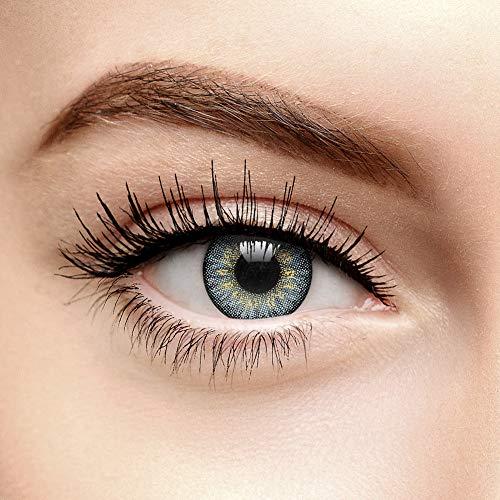 Coloured Contacts 3 Ton Natürlich Gefärbte Tageslinsen Ohne Stärke Grau (10er Pack)