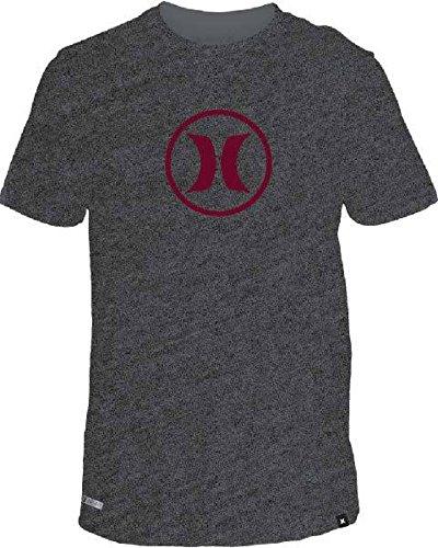 Herren T-Shirt Hurley Circle Icon Dri T-Shirt CHARCOAL HEATHER 7