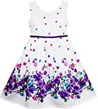 Sunboree Mädchen Kleid Elegant Prinzessin Blühend Blume Im Wind Gr.134