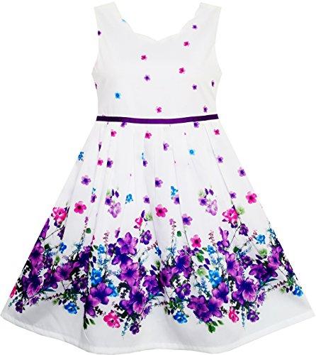 Mädchen Kleid Elegant Prinzessin Blühend Blume Im Wind Gr.104