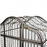Elegante-y-Chic-Metal-loro-jaula-de-pjaros-en-un-diseo-oriental-WPrctico-Residuos-Trampa