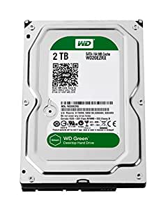WD Green Disque dur interne (Bulk) Desktop Mainstream 2 To 3,5 pouces SATA intellipower- Modèle aléatoire