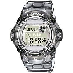 CASIO Baby-G BG-169R-8ER - Reloj de mujer de cuarzo, correa de resina color gris (con cronómetro, alarma, luz)