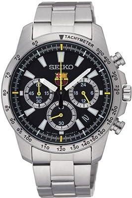 Seiko F.c. Barcelona Oficial Crono Ssb073p1-correa De Acero Inoxidable-reloj AnalÓgico Para Hombre-nuevo-garantia 2 AÑos