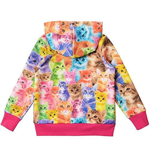 Perfashion Kinder Mädchen Reißverschluss Casual Hoodies Langarm Kapuzenjacke Jacket Top Sweatshirt - 2