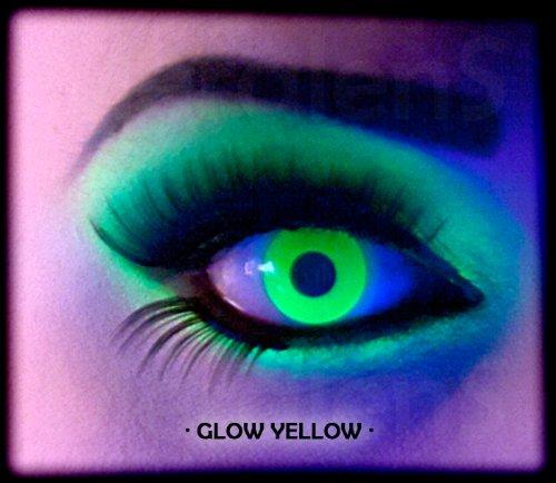 Monatslinsen, Glow Yellow, ohne Stärke, mit Behälter, 1 Paar ( 1 x 2 Stück) ()
