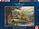 Schmidt Spiele Puzzle 58465 - Thomas Kinkade, Idylle am Fluss, 500 Teile Puzzle