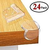 GeMoor 24 Stück Kantenschutz Eckenschutz Baby Eckenschützer aus Kunststoff mit doppelseitigem fettigem Klebstoff für Tisch- und Möbel-Ecken(Dreieck & Kugel geformt mit Backup Adhesive)