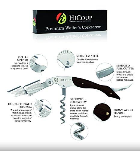 Kellnerkorkenzieher-von-HiCoup-Multifunktionaler-Premium-Korkenzieher-mit-Palisanderholz-Flaschenffner-und-Folienschneider