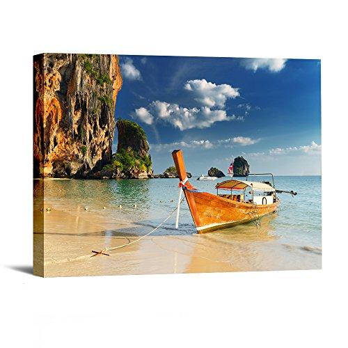 1-piece-avec-encadree-des-impressions-illustrations-bord-de-mer-bateau-en-bois-photos-peintures-sur-