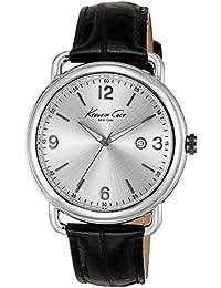Kenneth Cole Kc195443mm boîtier en acier inoxydable Noir en Cuir de vachette minéral montre homme (Reconditionné Certifié)