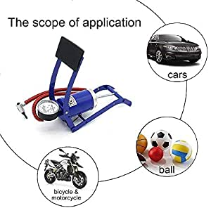 SNEPCOM Imported Portable High Pressure Foot Air Pump Heavy Compressor Cylinder Bike,Car,Cycles,& All Other Vehicles