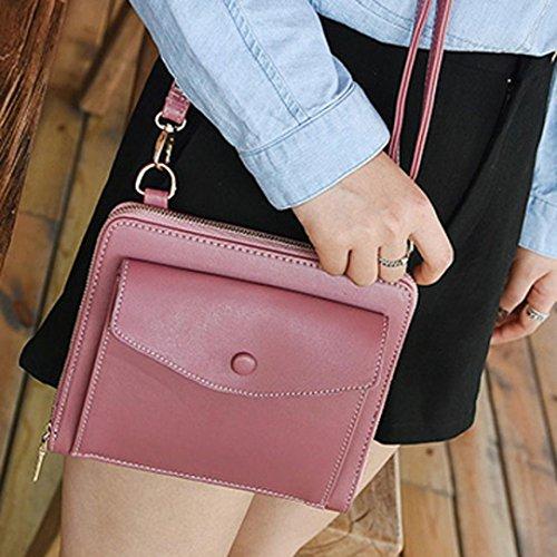 Borse Donna , feiXIANG 2017 Donne Messenger borse spalla borse borsetta piccolo corpo borse (rosa) rosa