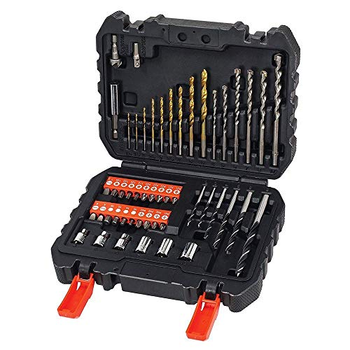 BLACK+DECKER A7188 - Set de 50 piezas con brocas y puntas para atornillar y taladrar