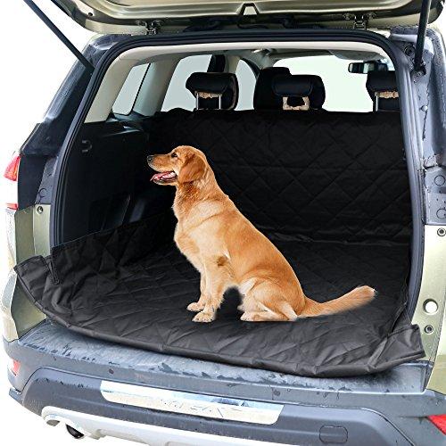 Tapis Coffre Housse de protection pour chien 55×106 inches/139.70×269.24cm imperméable Tissu Oxford Coffre voiture Noir