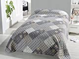 Fashion&Joy XL Bettüberwurf Tagesdecke Gesteppt 220x240 Steppdecke Patchwork Überwurf Ökotex Decke Cottage Shabby Chic Landhaus Rosen Typ456