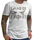Game of Drones TShirt in Weiß und Grau