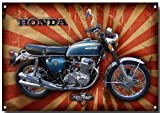 VINTAGE SIGN DESIGNS Honda CB750 four Metall schild - 210mm x 285mm x1mm Platte