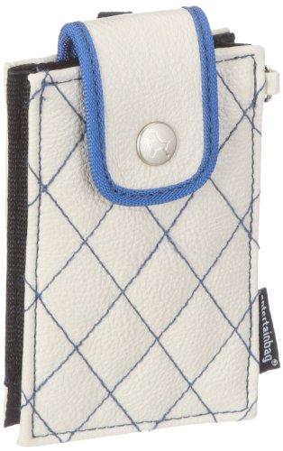 Poodlebags entertainbag square stitch 530411CB, Portafoglio donna, 2x12x7 cm (L x A x P) Beige (Beige/blue)
