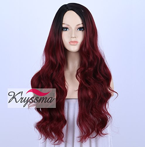 kryssma-wig-for-african-american-women-black-rooted-ombre-burgundy-wigs-realistic-looking-long-wavy-