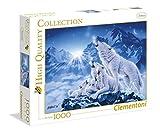 Clementoni - Puzzle de 1000 piezas,, diseño Familia De Lobos (392803)