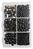 #10: eshoppee Black Color Glass Beads Seed Beads for Jewellery Making Material kit Art and Craft Material for Embroidery DIY kit Wait 300gm