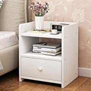 CYY Simple Bedside Table Nightstand Bedside Cabinet Side Table End Table Sofa Table with 2 Drawer Storage Unit