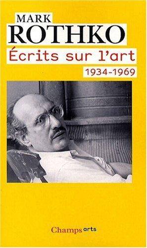 Ecrits sur l'art 1934-1969