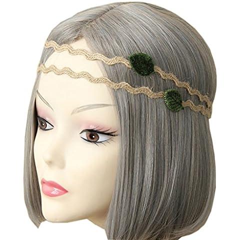 Sumolux 1 Coronas de Flores Diadema de Flores Adorno de Pelo Accesorio para Cabeza Girnalda Floral Estilo Boho Para Niña Chica Mujer Fiesta Boda Viaje