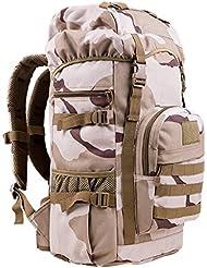 viajes 50L / hombres y mujeres de gran capacidad de los hombros de espalda al aire libre senderismo mochila bolsa de equipaje al aire libre ( Color : C , Tamaño : 50L-24*35*60cm )