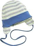 Schnizler Unisex Baby Mütze Erstlingsmütze, Bindemütze mit Ohrenschutz, Oeko-Tex Standard 100, Grün (Grün 29), Small (Herstellergröße: 45cm)
