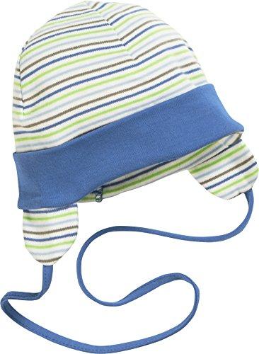 Schnizler Unisex Baby Mütze Erstlingsmütze, Bindemütze mit Ohrenschutz, Oeko-Tex Standard 100, Grün (Grün 29), Large (Herstellergröße: 49cm)