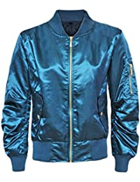 CANDY FLOSS NEW LADIES MA1 SATIN ARMY FLIGHT LIGHTWEIGHT BOMBER BIKER WOMENS SUMMER RETRO JACKET