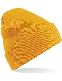 Skater-stil hoch rollbare Mütze Mit manschetten Style weiche Oberfläche Unisex 46 Farben