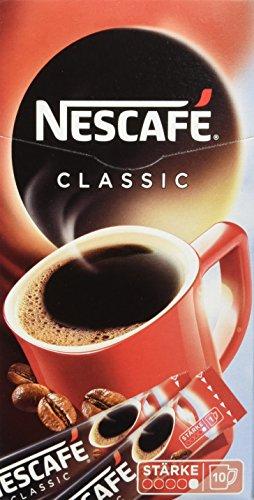 Nescafé Classic, Löslicher Kaffee, Faltschachtel mit 10 x 2g Sticks (5er Pack)