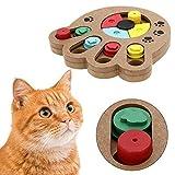 Pyrus, Haustier-Intelligenz-Spielzeug, umweltfreundlicher, interaktiver Spaß – Futter-Versteckspielzeug aus Holz für kleine und mittelgroße Hunde und Katzen